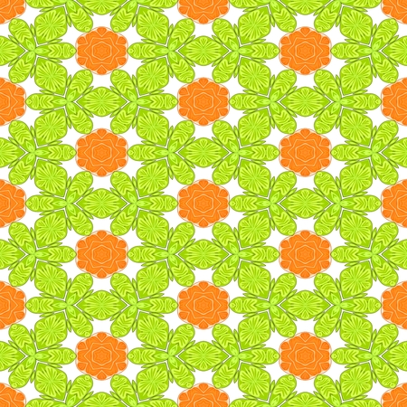 playful: Orange yellow white decorative kaleidoscopic fractal floral starry regular mirroring vibrant optimistic playful beautiful pattern Stock Photo