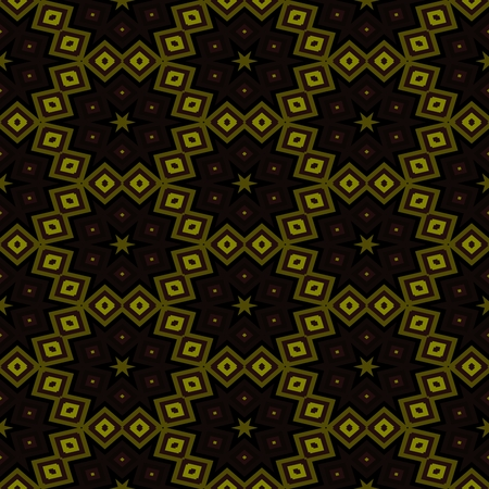 secession: Abstract black ocher seamless kaleidoscopic background Stock Photo