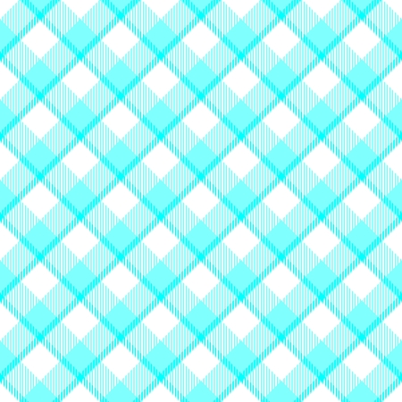 Blue white weaved fabric check oblique plaid background
