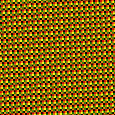 skew: Abstract red green ocher skew seamless geometric pattern Stock Photo