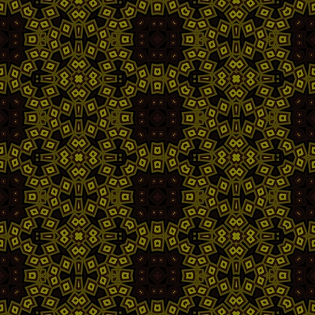 Abstract geometric kaleidoscopic fractal mirroring tile able pattern Banco de Imagens