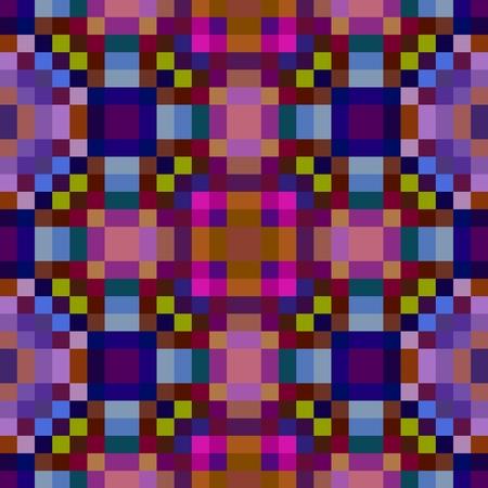 pixelated: Colourful seamless pixelated kaleidoscope pattern