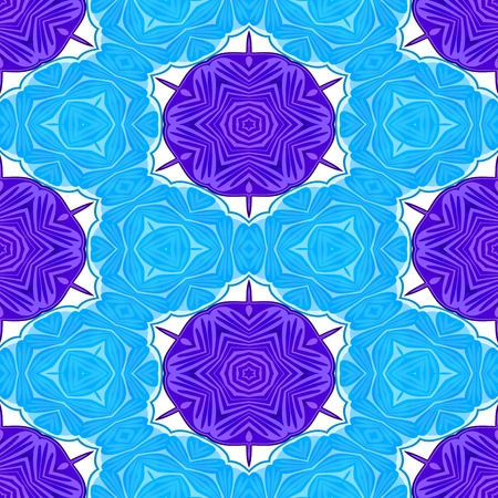 starlit: Blue violet white decorative kaleidoscopic fractal floral starry regular mirroring vibrant optimistic playful beautiful pattern