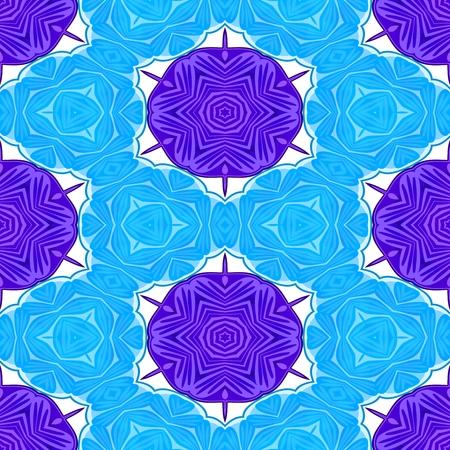 mirroring: Blue violet white decorative kaleidoscopic fractal floral starry regular mirroring vibrant optimistic playful beautiful pattern