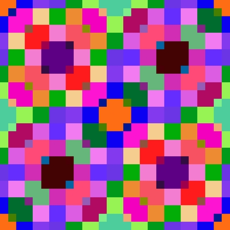 pixelation: Abstract seamless pixelated mosaic pattern in op art style Stock Photo