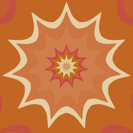 cartwheel: Brown orange fantasy cartwheel mandala tile