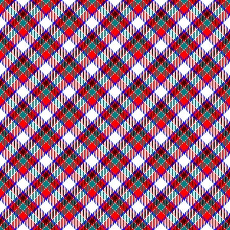 weaved: Blue weaved fabric check diagonal plaid pattern - seamless tartan texture Stock Photo
