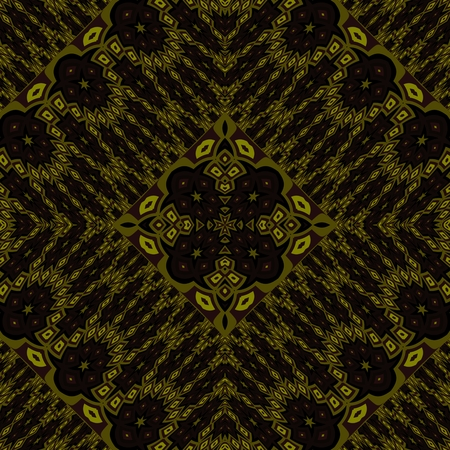 Abstract seamless gold black kaleidoscopic background