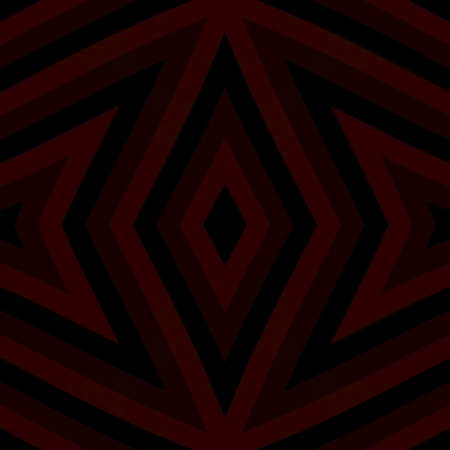 tile able: Dark red brown black kaleidoscopic retro geometric symmetrical tile able pattern in cubist style