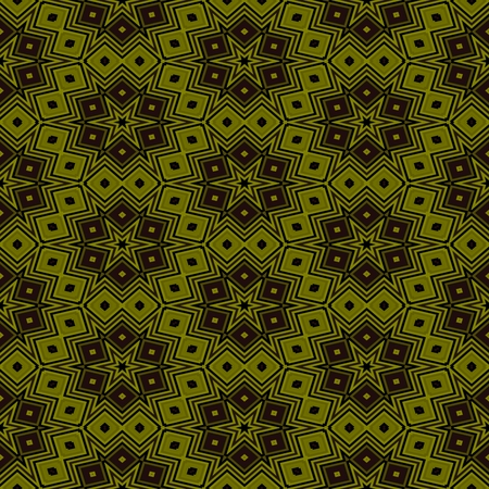 Abstract seamless brown ocher kaleidoscopic background Stock Photo