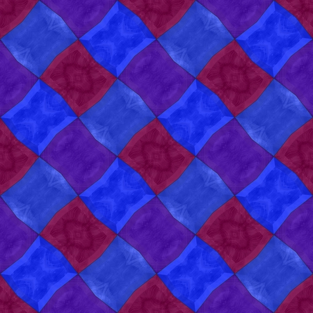 sidebar: Abstract checkered red blue violet mosaic tile pattern