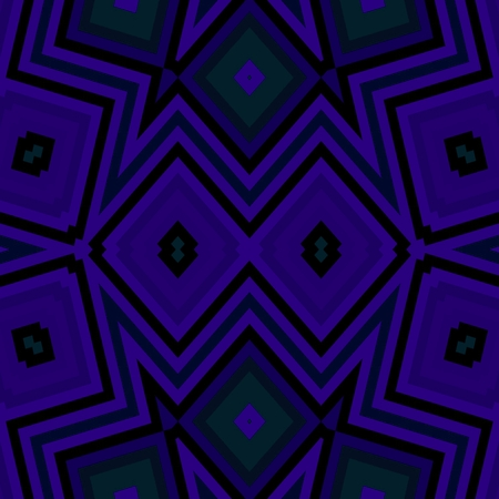 Abstract dark violet turquoise cubist angular tile Stock Photo