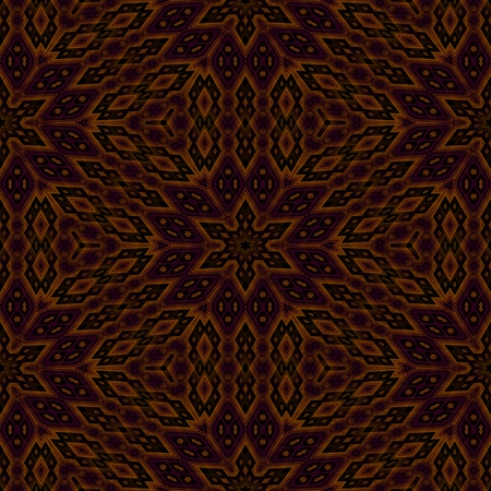 tile able: Abstract geometric kaleidoscopic fractal mirroring tile able pattern Stock Photo