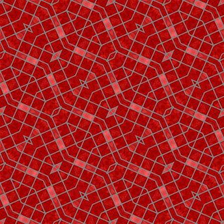 mirroring: Strawberry red mosaic seamless mirroring pattern