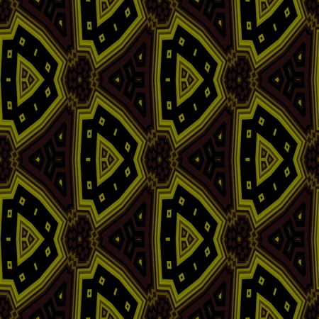 gloaming: Abstract geometric kaleidoscopic fractal mirroring tile able pattern Stock Photo