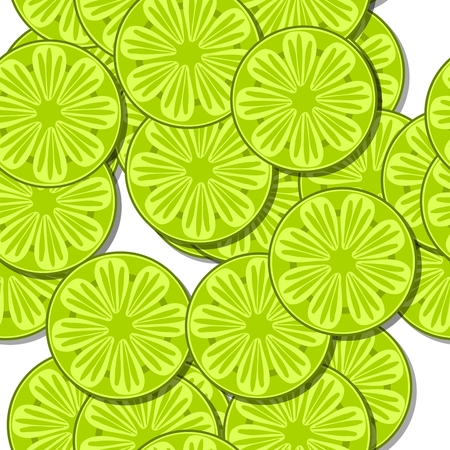 sappy: Yellow seamless pattern with cartoon stylized lemon or lime citrus motif on white background