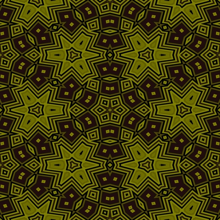 Abstract seamless kaleidoscopic gold background