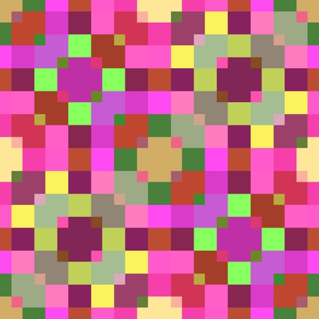 pixelated: Bright abstract decorative kaleidoscopic pixelated background