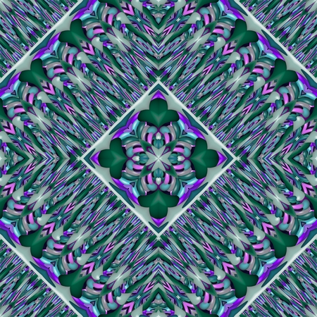 Abstract kaleidoscopic geometric starry pattern