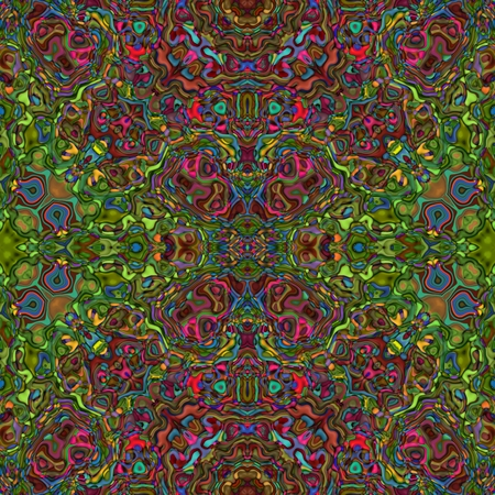 mirroring: Abstract red yellow gray seamless kaleidoscopic background