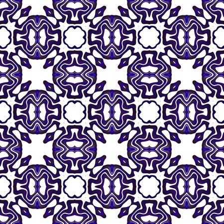 rendered: Kaleidoscopic decorative floral fractal arabian tile - digitally rendered pattern Stock Photo