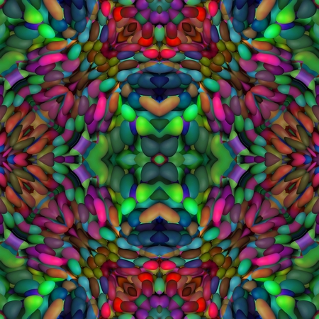 mirroring: Abstract kaleidoscope red green blue pink mirroring seamless ornamental pattern