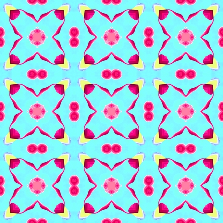 Abstract kaleidoscopic geometric floral starry pattern Stock Photo
