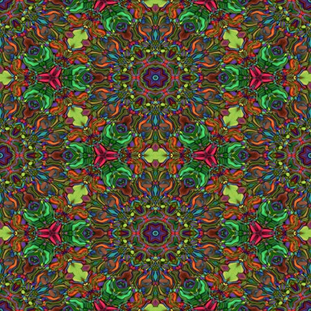Abstract seamless brown kaleidoscopic background Stock Photo