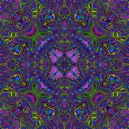 Abstract seamless kaleidoscopic blue violet background Stock Photo