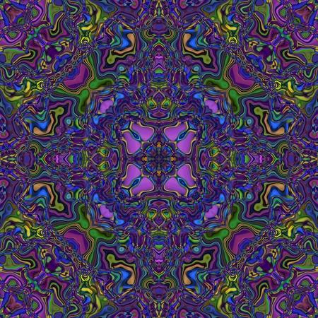 postmodern: Abstract seamless kaleidoscopic blue violet background Stock Photo