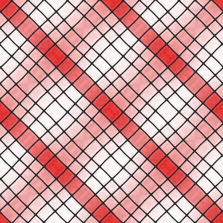 rhombic: Abstract tileable seamless regular ornamental mosaic pattern Stock Photo
