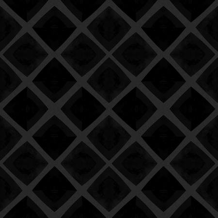 rhombic: Abstract checkered black mosaic tile pattern in Spanish ceramics style Stock Photo