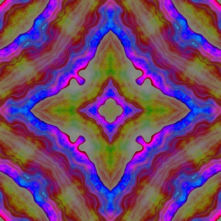secession: Abstract seamless floral fractal kaleidoscopic background