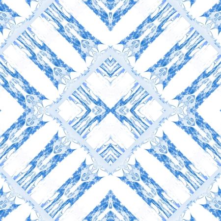 digitally: Kaleidoscopic decorative floral fractal arabian tile - digitally rendered pattern Stock Photo