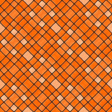 oblique: Abstract oblique mosaic seamless orange pattern Stock Photo
