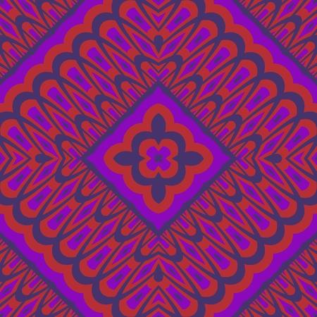 shocking: Kaleidoscopic decorative floral fractal arabian tile - digitally rendered pattern Stock Photo