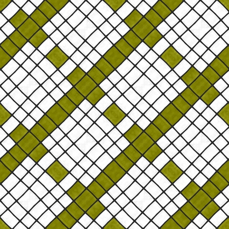 composed: Abstract decorative diagonally yellow white gray mosaic pattern composed of small angular tiles - digitally rendered graphic