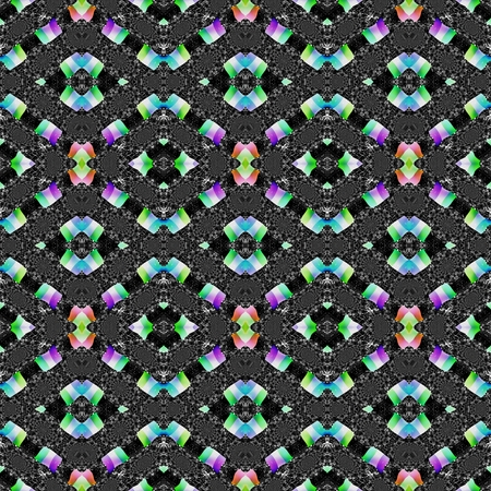 secession: Abstract kaleidoscopic decorative seamless pattern