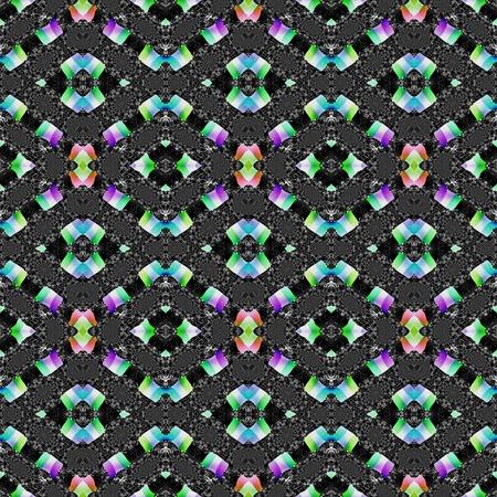 kaleidoscopic: Abstract kaleidoscopic decorative seamless pattern
