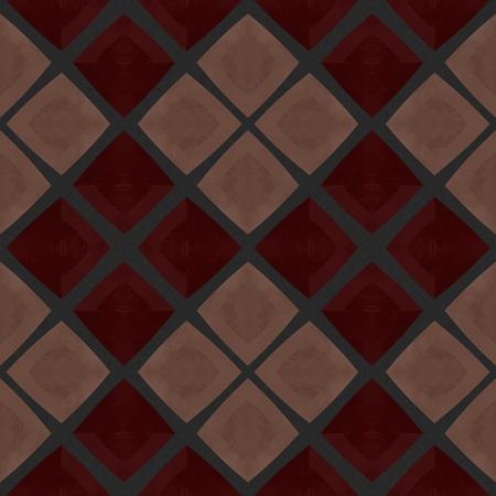 regular: Brown gray regular diagonally chequed seamless pattern Stock Photo