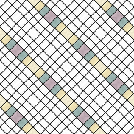 sidelong: Mosaic kaleidoscope diagonally faded gray green red yellow white stripes background Stock Photo