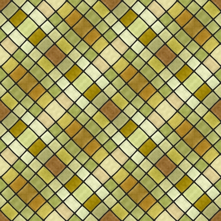 composed: Abstract decorative diagonally yellow gold white gray mosaic pattern composed of small angular tiles - digitally rendered graphic