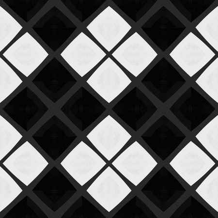 skew: Abstract checkered black white mosaic tile pattern in Spanish ceramics style