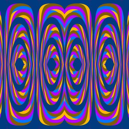 mirroring: Pink yellow blue floral kaleidoscopic seamless mirroring fractal pattern Stock Photo