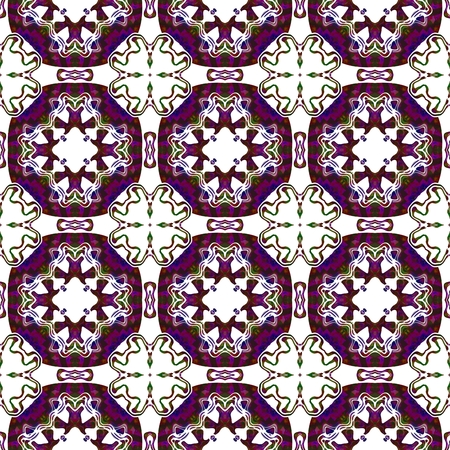 Abstract red purple white seamless kaleidoscopic background Stock Photo