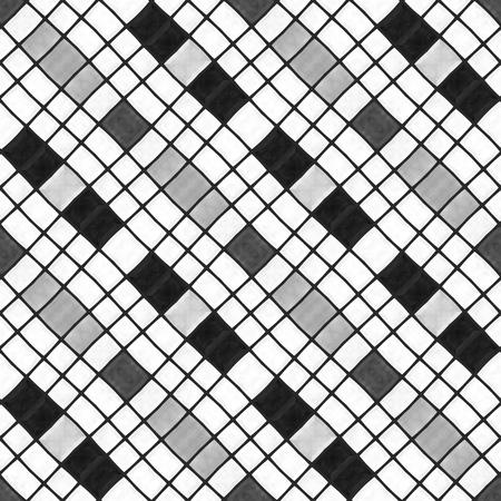 diagonally: Mosaic kaleidoscope diagonally black white striped background