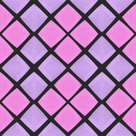 deep pink: Abstract checkered pink mosaic tile pattern
