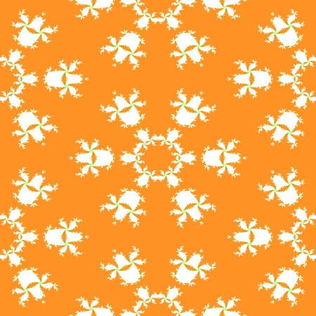 sidebar: Floral decorative fractal white orange contrast background