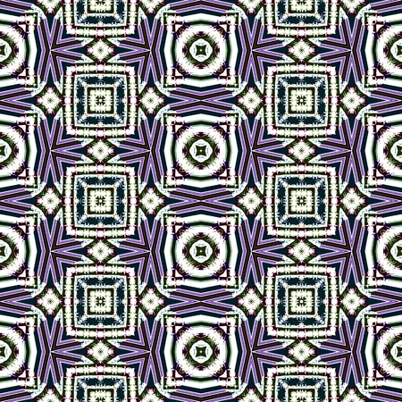 Abstract seamless geometric cubist kaleidoscopic background