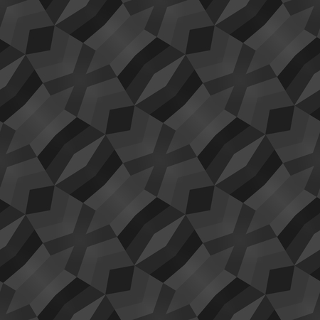 diagonally: Silver black irregular diagonally striped seamless pattern Stock Photo